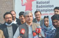 KP to hold International Women & Men Badminton Championship in Nov this year. Abid Majeed